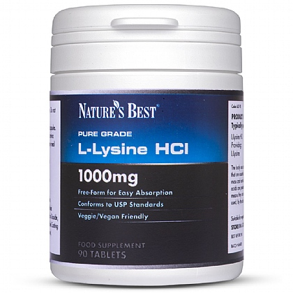 L-Lysine HCl 1000mg, An Essential Amino Acid To Build Proteins