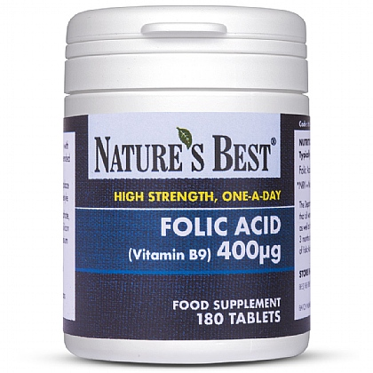 Folic Acid 400µg (Vitamin B9), High Potency Formula
