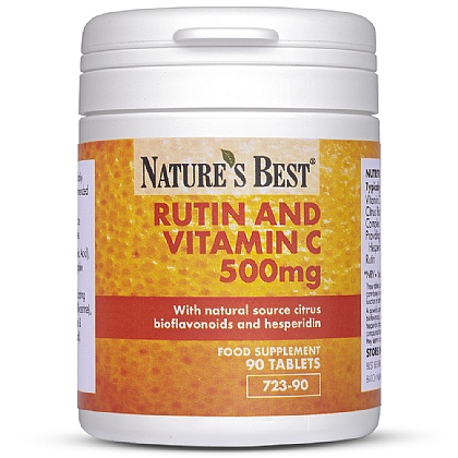 Rutin and Vitamin C 500mg plus Bioflavonoids + Hesperidin