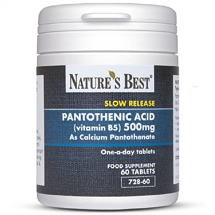 Vitamin B5 500mg (Pantothenic Acid), Contributes To Normal Mental Performance