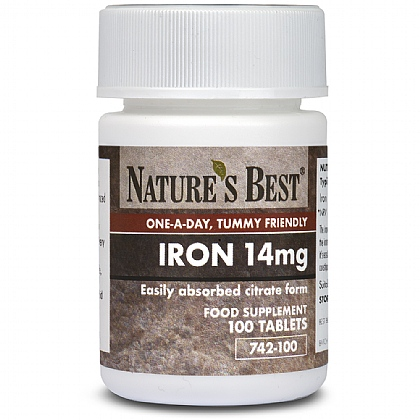 Iron 14mg as Citrate