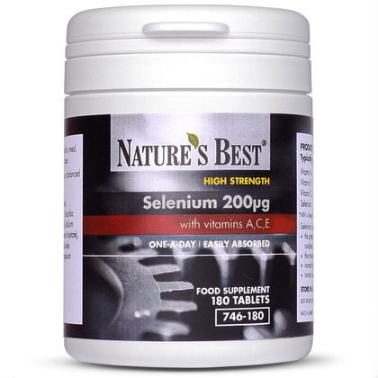 Selenium 200µg With Vitamins A,C,E, Easy To Absorb