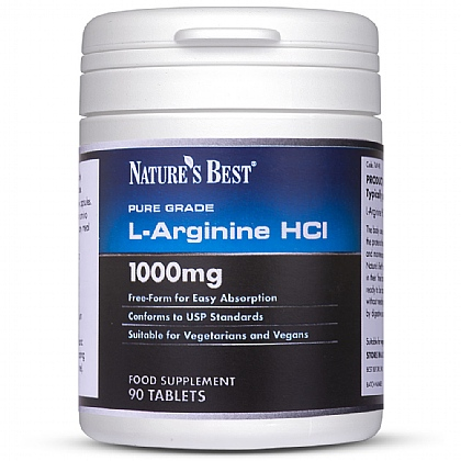 Arginine 1000mg, High Strength L-Form of This Amino Acid