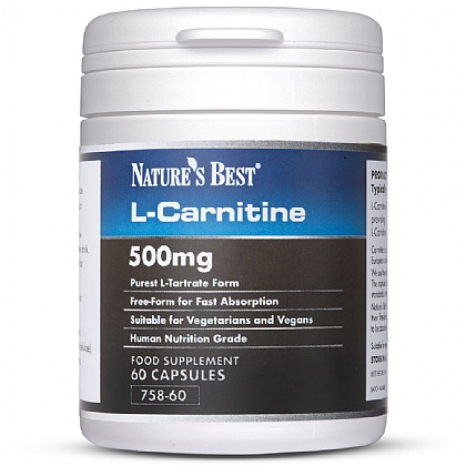 Carnitine 500mg, Contributes To The Release Of Energy From Food