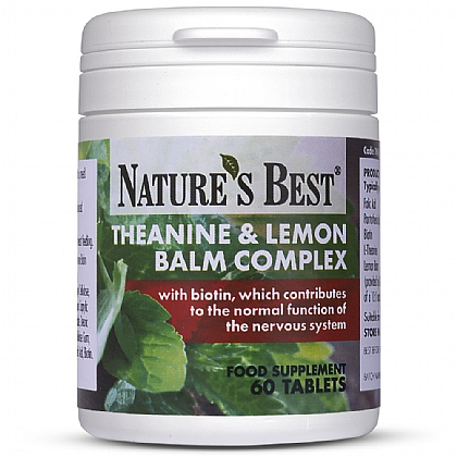 Theanine and Lemon Balm Complex, With Vitamins, Folic Acid and *Biotin