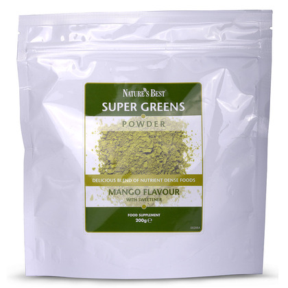 Super Greens Powder, Mango Flavour
