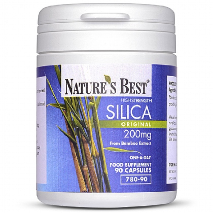 Silica 200mg, Natural Source Extract From Bamboo